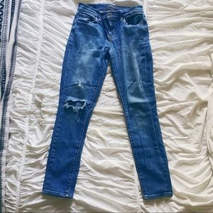 Lucky Brand Brooke Skinny Midwash Destructed Jeans